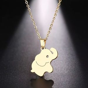 Cute Stainless Steel Elephant Necklace